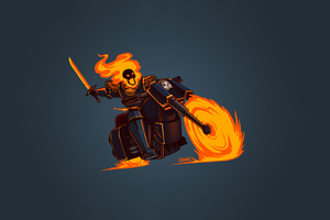 Ghost Rider Minimalism Hd Wallpaper