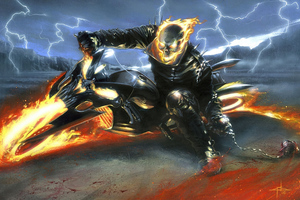 Ghost Rider On Bike 4k Wallpaper