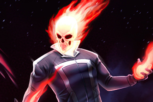 Ghost Rider On Fire Wallpaper