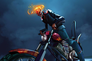 Ghost Rider With Bike