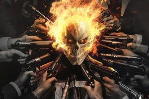 Ghost Rider X John Wick Poster 4k