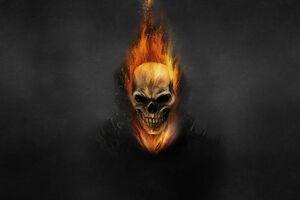 Ghostrider Art 4k