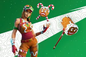 Gingerbread Raider Outfit Fortnite Wallpaper