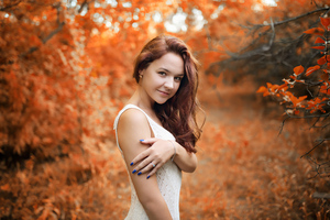 Girl Autumn Season 4k Wallpaper