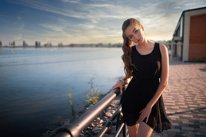 Girl Black Dress Beautiful 4k Wallpaper