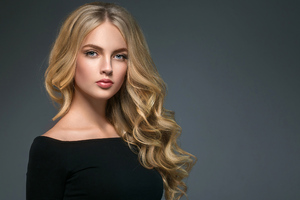 Girl Blonde Hair Glance 4k