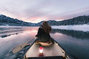 Girl Boat Ride