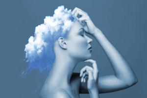 Girl Cloud Hair Wallpaper