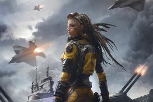 Girl Cyberpunk War Wallpaper