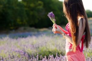 Girl Dress Field Flowers