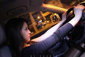 Girl Driving Audi