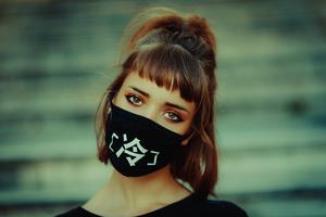 Girl Face Mask 5k Wallpaper