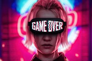Girl Game Over Glasses