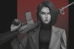 Girl Gun 4k
