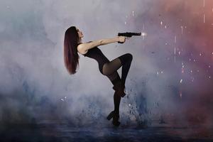 Girl Gun Wallpaper