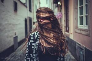 Girl Hair In Face Wallpaper
