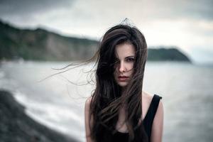 Girl Hair On Face 5k Wallpaper
