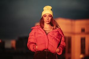 Girl Hands In Pockets Jacket 4k Wallpaper