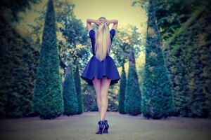 Girl In Mini Dress
