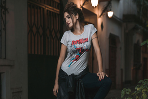 Girl In Superhero Tshirt Wallpaper