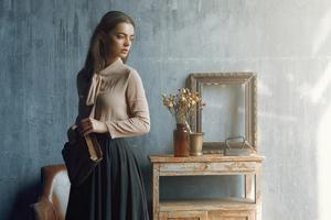 Girl Indoor Book Vintage Clothing 4k Wallpaper