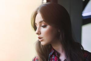 Girl Looking Down Portrait Shoot 5k Wallpaper