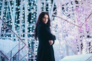 Girl Model Winter Night 5k Wallpaper