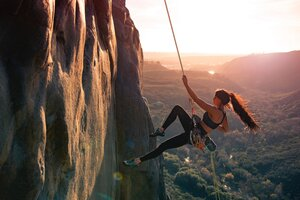 Girl Mountain Climber 5k Wallpaper