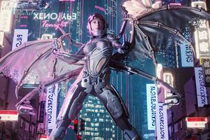 Girl Of Cyber City Wallpaper