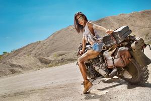 Girl On Motorcycle 5k