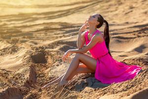 Girl Outdoors Desert