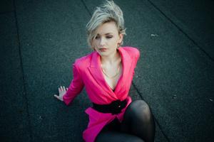 Girl Pink Coat 5k Wallpaper