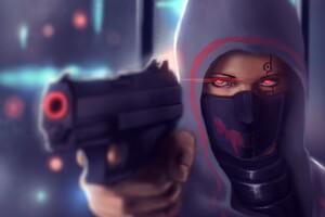 Girl Pistol Futuristic