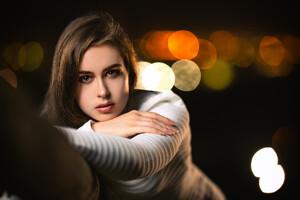 Girl Portrait Deep Effect Wallpaper