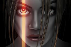 Girl Portrait Eye Flare 5k Wallpaper