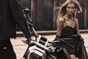 Girl Sitting On Ducati Wallpaper