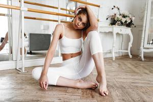 Girl Sitting On Floor 4k Wallpaper