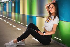 Girl Sitting Time Lapse Wallpaper