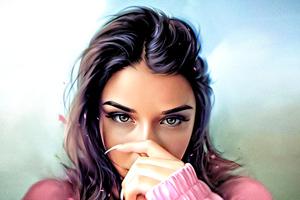 Girl Sketch Art Wallpaper
