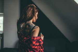 Girl Tattoos On Back Wallpaper
