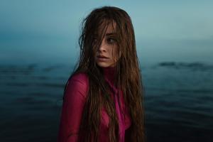 Girl Wet Hair Wallpaper