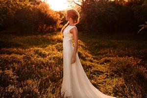 Girl White Dress Sunbeam Forest Wallpaper