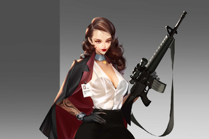 Girl With Big Gun