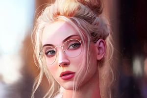 Girl With Glasses Artistic Portrait 4k Wallpaper