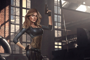 Girl With Gun Artwork 4k Wallpaper