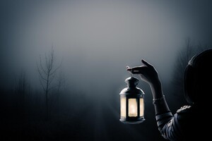 Girl With Lantern Art