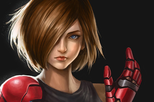 Girl With Robotic Arm Wallpaper