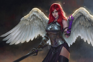 Girl With Wings Wallpaper