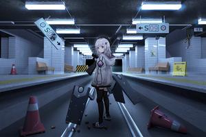 Girls Frontline Train Subway 4k Wallpaper