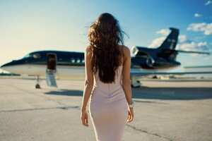 Girls With Planes Wallpaper